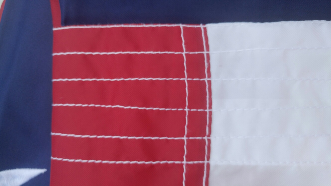8 x 12 USA Flag - 6 rows of stitching