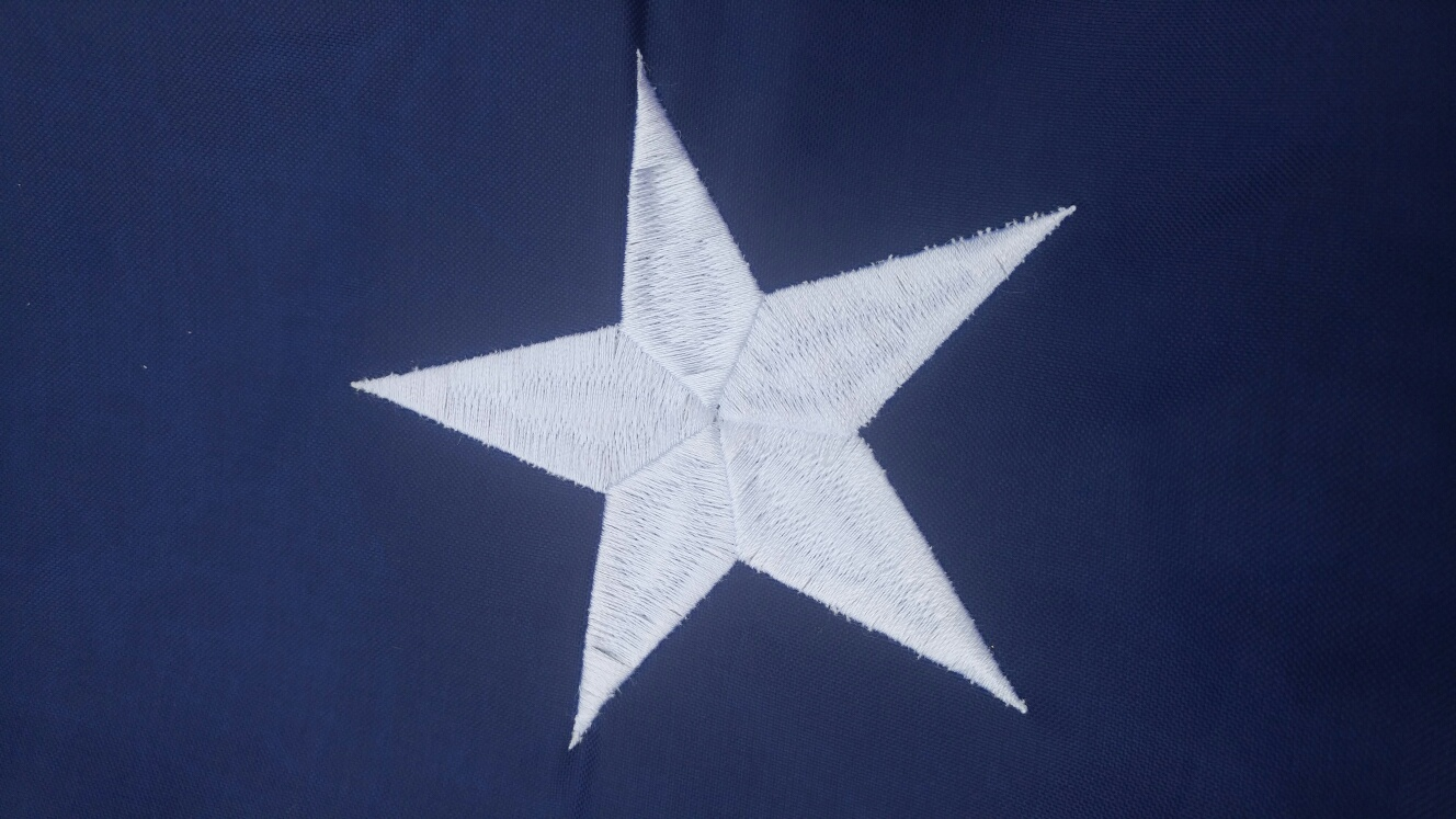 8 x 12 USA Flag - Embroidered Stars