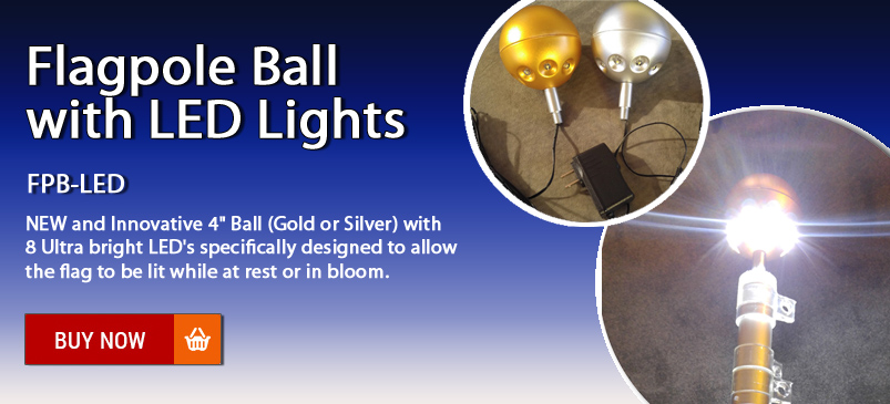 Flagpole Ball LED Light