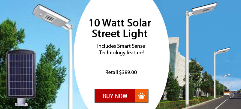 Solar Street Light with Security Feature