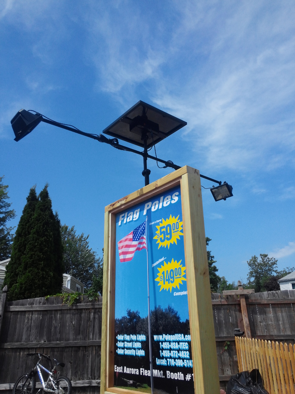 Solar Flagpole Lighting Solar Landscape Lights Polepalusa