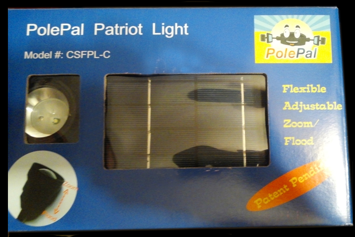 Commercial Solar Flagpole Light Ultra Series - Box