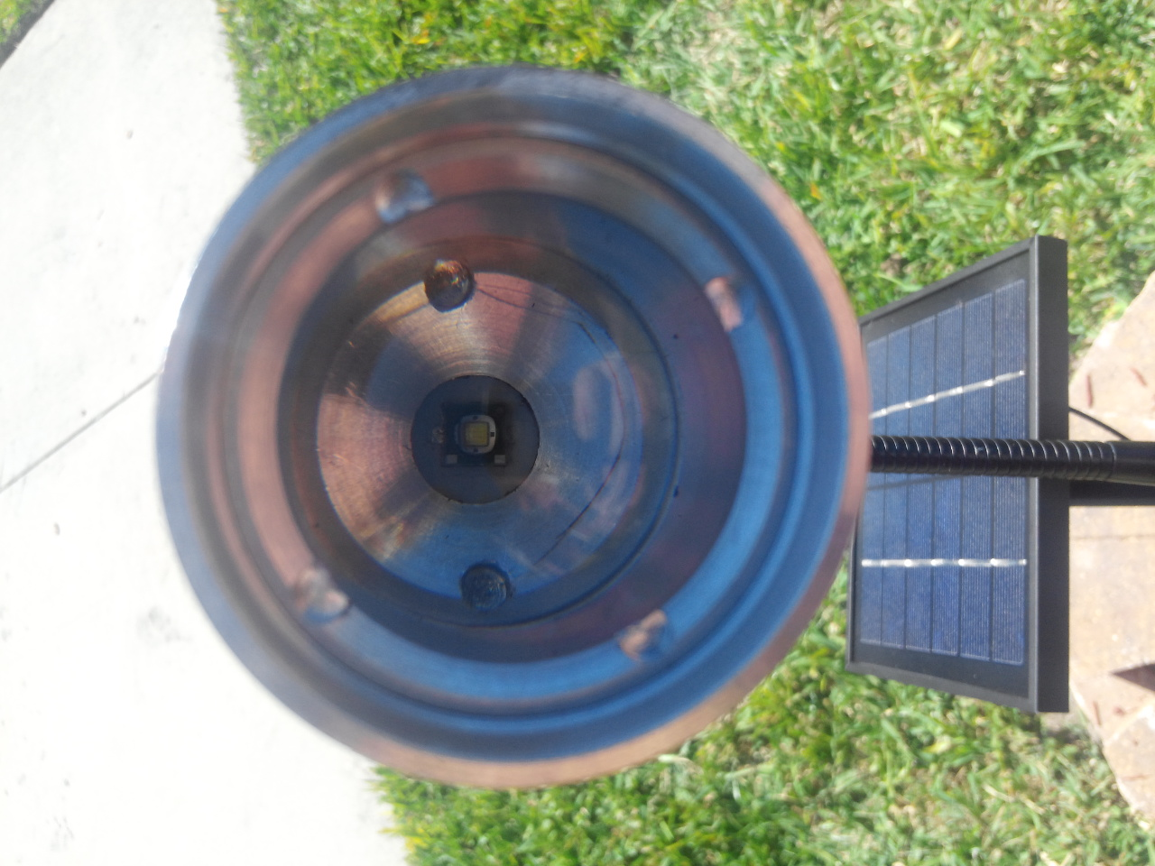 Commercial Solar Flagpole Light Head and Solar Panel