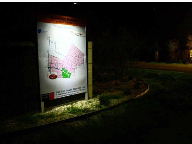 Solar Billboard Light at Night