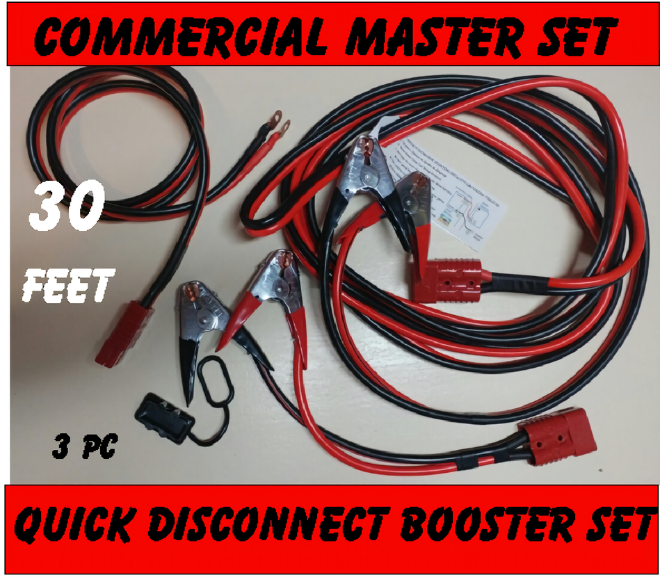 Commercial Master Jump Cable HIGH POWER 3 piece set