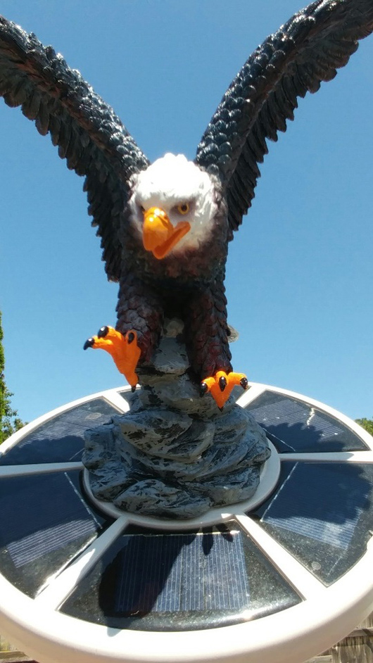 Eagle On Approach Flagpole Topper Finial Ball Hand