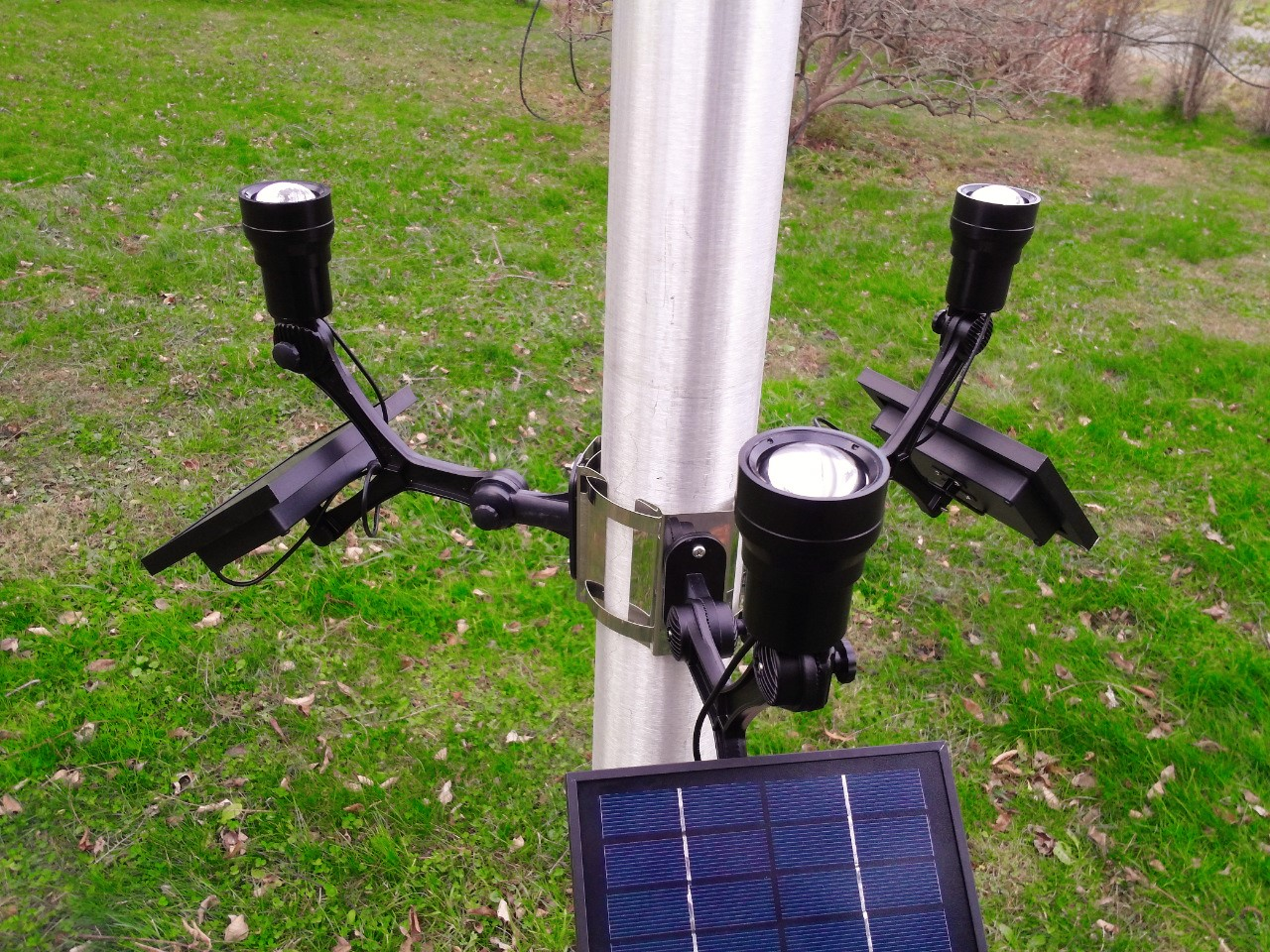 commercial solar flagpole light ultra series cree flexible head. Black Bedroom Furniture Sets. Home Design Ideas
