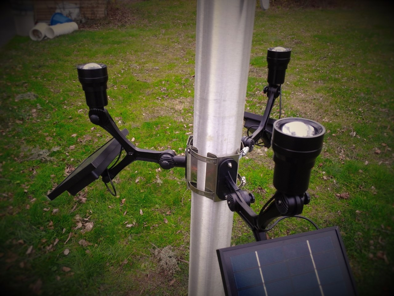 Extreme Commercial Solar Flagpole Light Cree Product Details