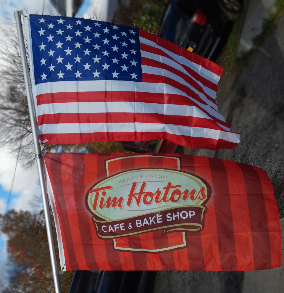 Tim Hortons - Cafe & Bake Shop Flag.