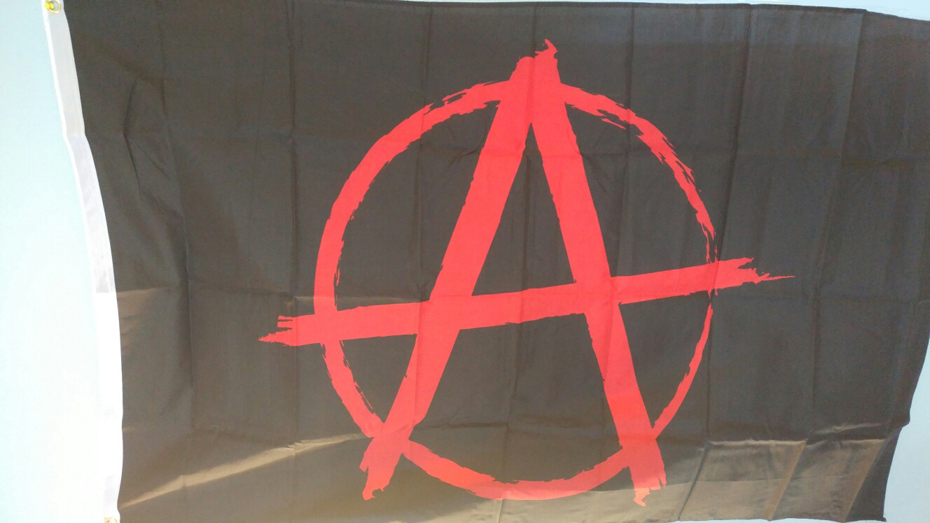 Anarchy Symbol Flag