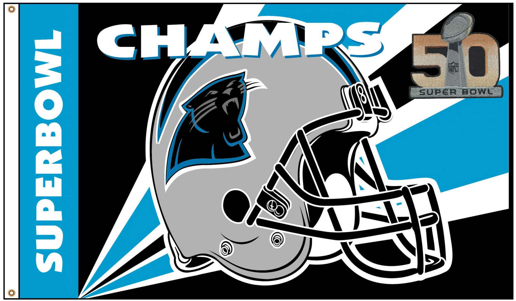 Carolina Panthers Super Bowl Flag