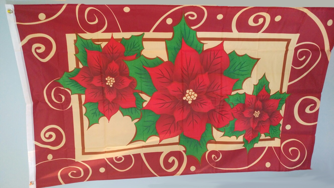 Holiday Poinsettia Flag