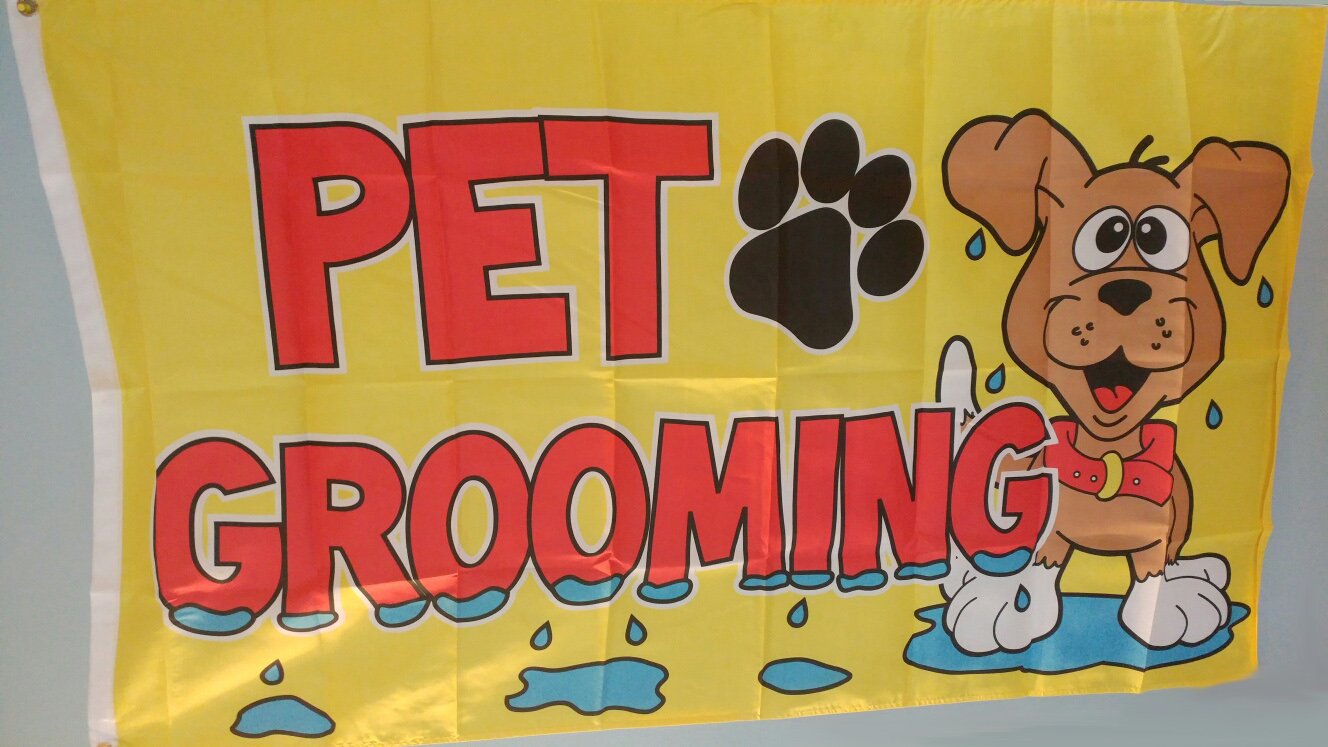 Pet Grooming Flag