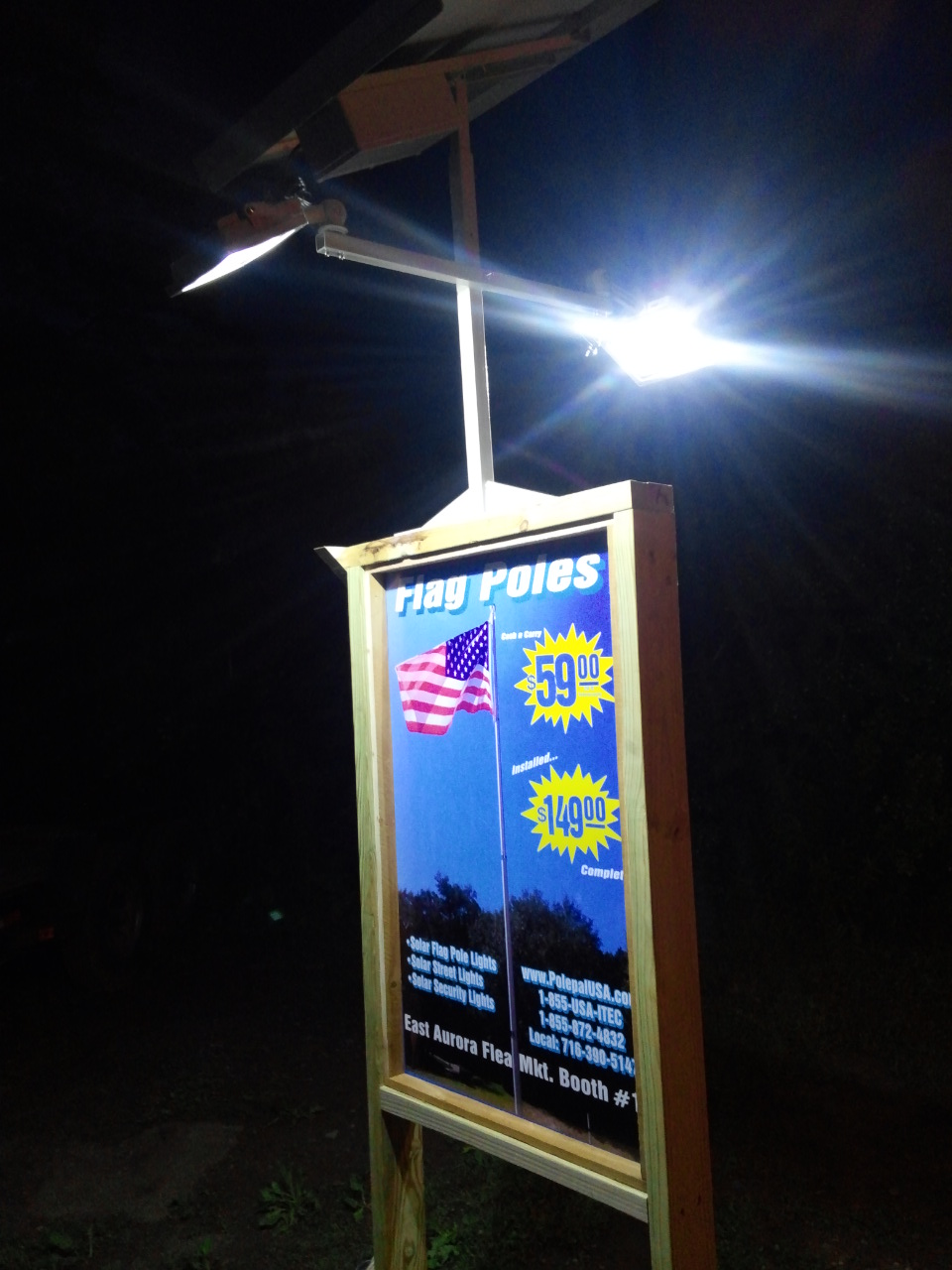High End Commercial Solar Billboard 2 Sided Light