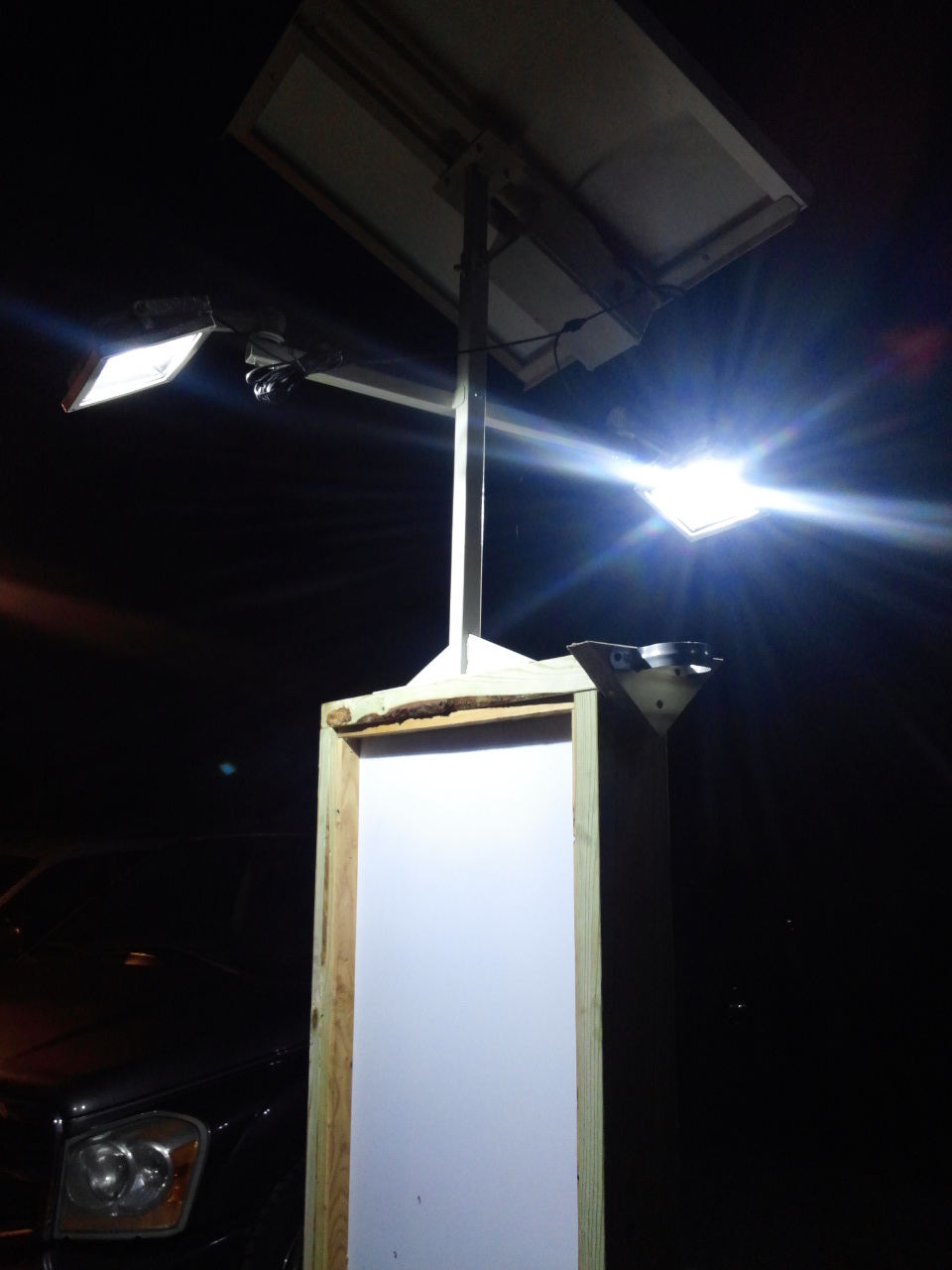 High End Commercial Solar Billboard 2 Lights