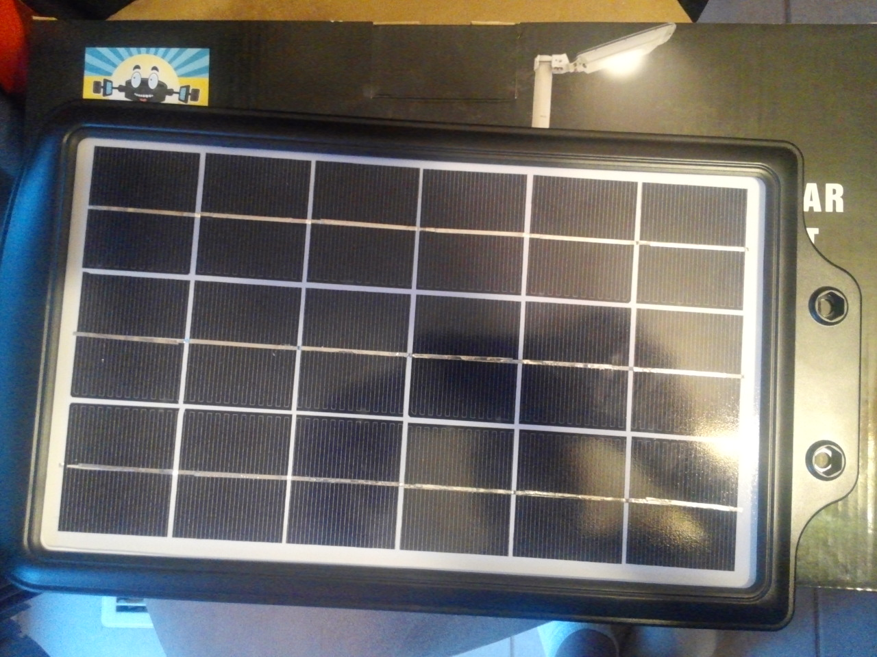 High End Commercial Solar Security Light Solar Panel