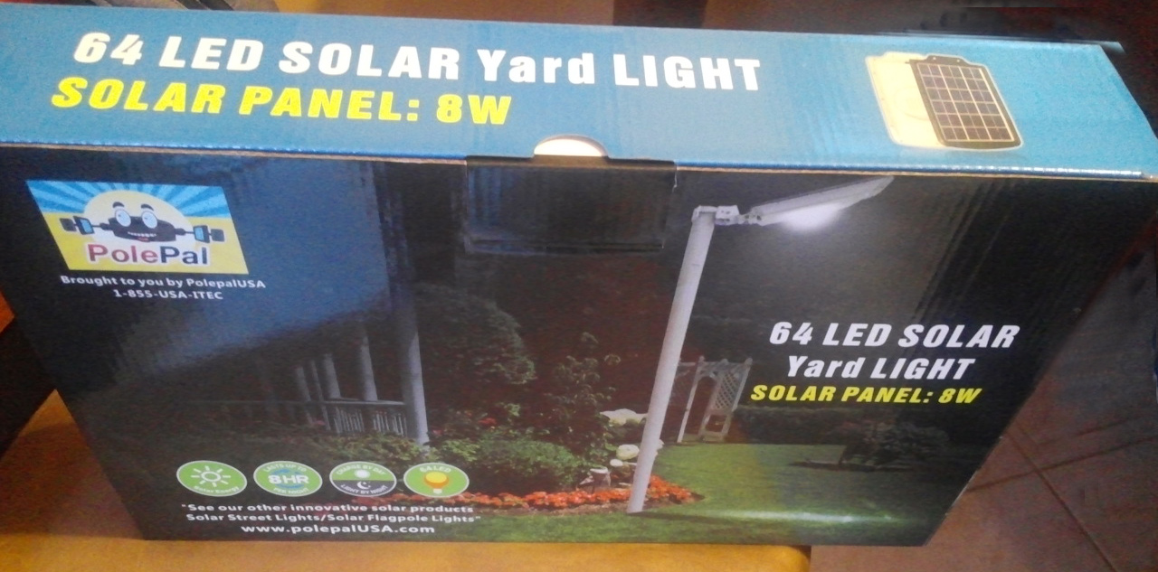 High End Commercial Solar Security Light Top of Box