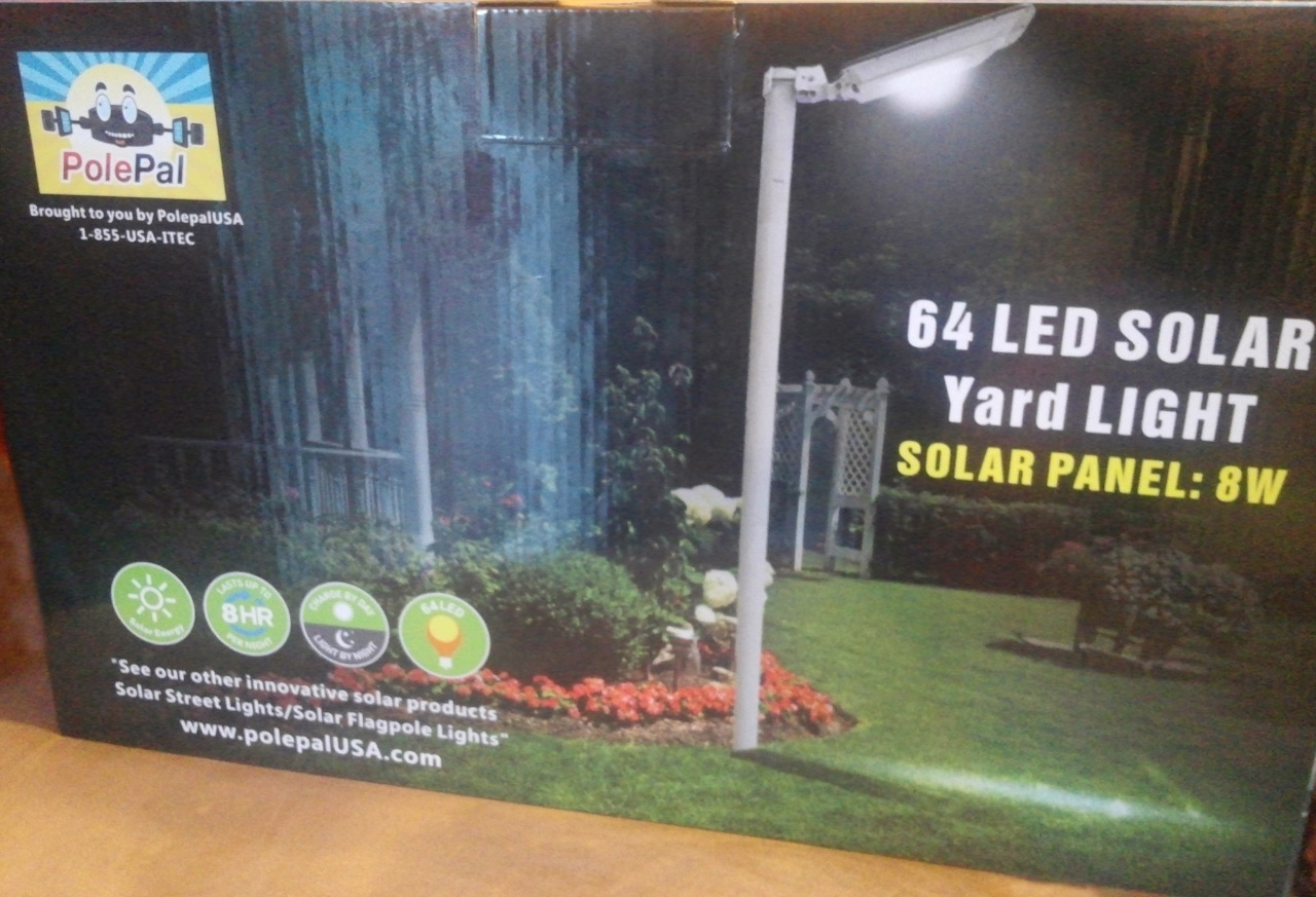 High End Commercial Solar Security Light Box Front