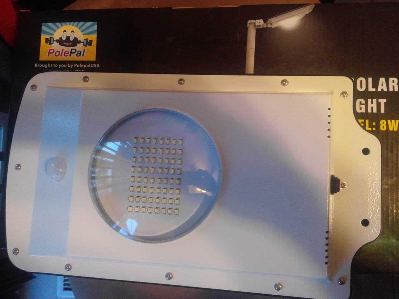 High End Commercial Solar Security Light Unit