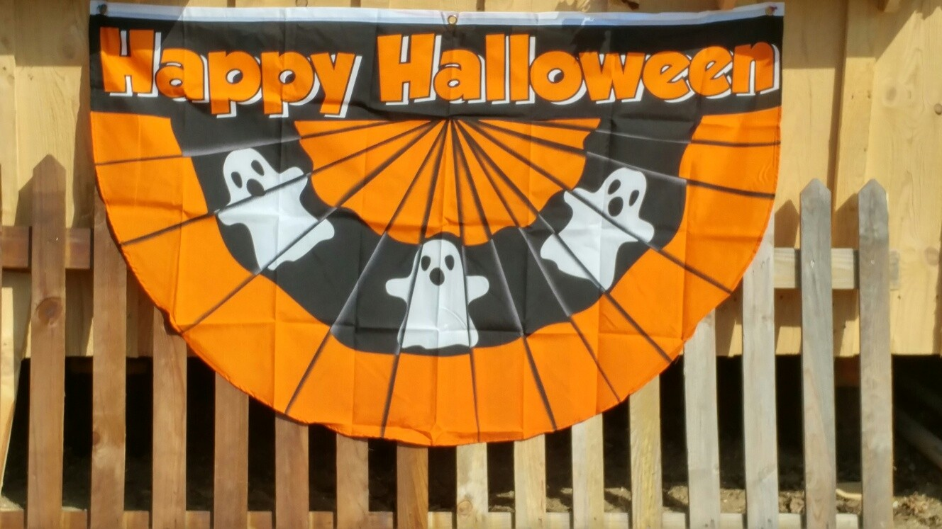 Halloween Ghost Bunting Flag
