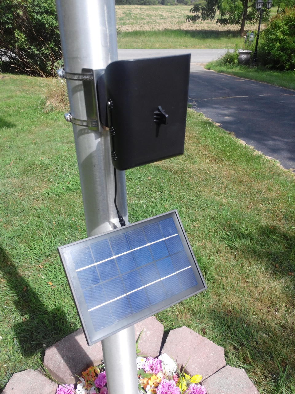 Entry Level Commercial Solar Flagpole Light with upgraded solar panel - PolePalUSA
