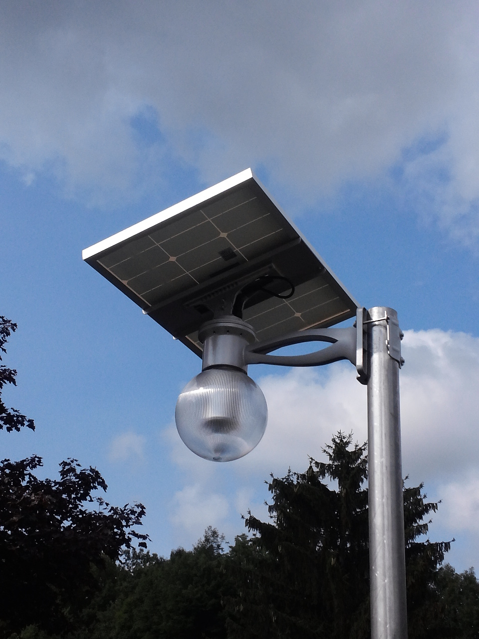 Solar Motion Light Mounted On Pole