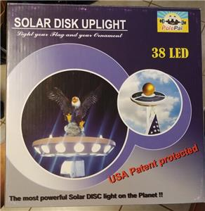 38 LED Up-DISC Solar Flagpole Top Light