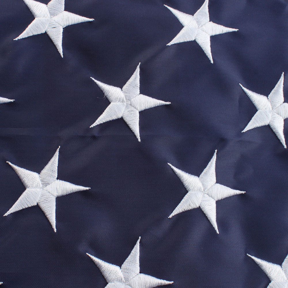 5ft. x 8ft. American Flag with embroidered stars