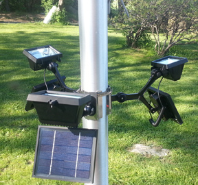 commercial solar flagpole light. Black Bedroom Furniture Sets. Home Design Ideas