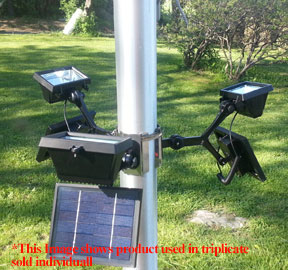 Commercial Solar Flagpole Light triplicate