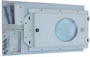 High End Commercial Solar Security Light Back