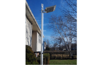 High End Solar Motion Light used on our 20 foot Telescopic Flag Pole.